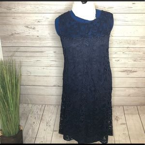 Lane Bryant blue lace midi dress 22/24